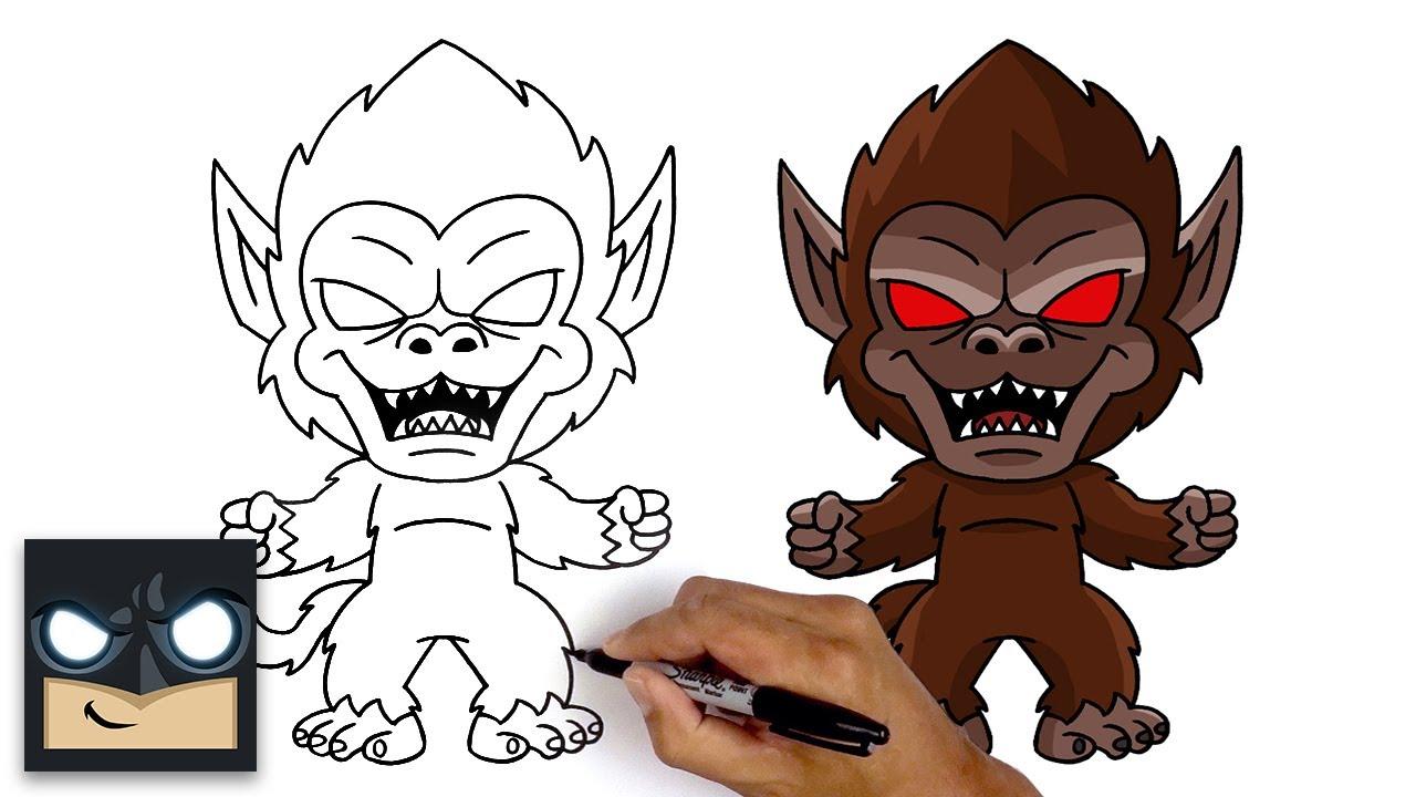 Come disegnare Goku grande scimmia di Dragon Ball Z