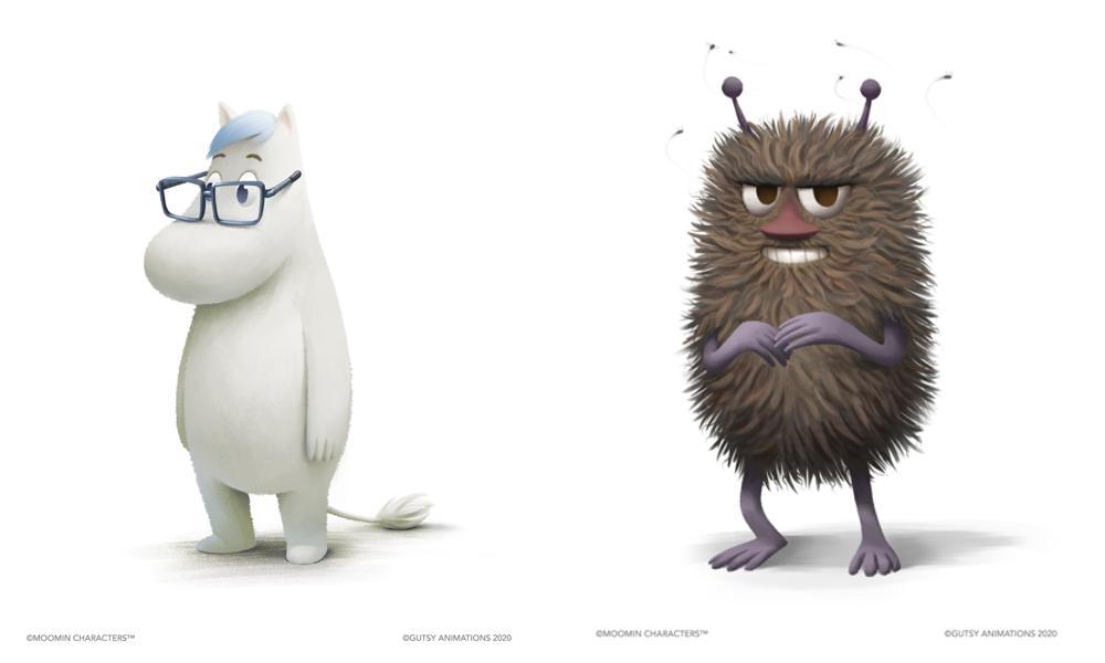 Concept artwork per i nuovi personaggi Snork e Stinky.