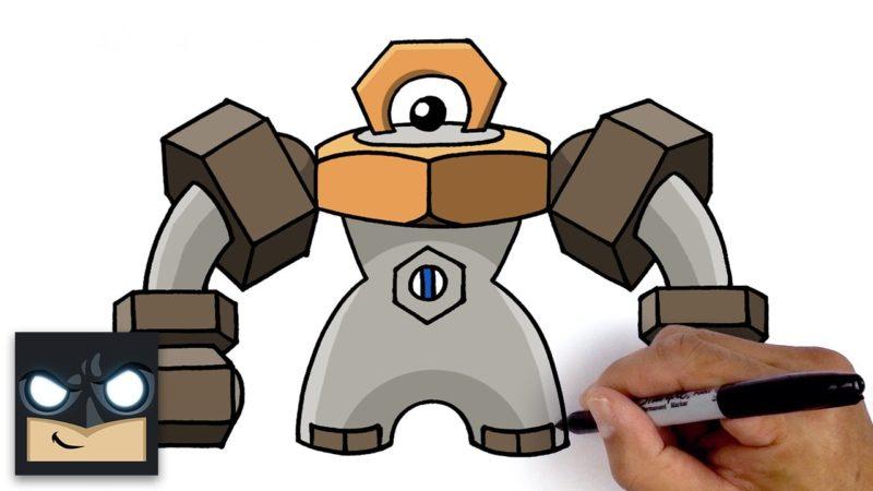 Jak narysować Melmetal z Pokemona