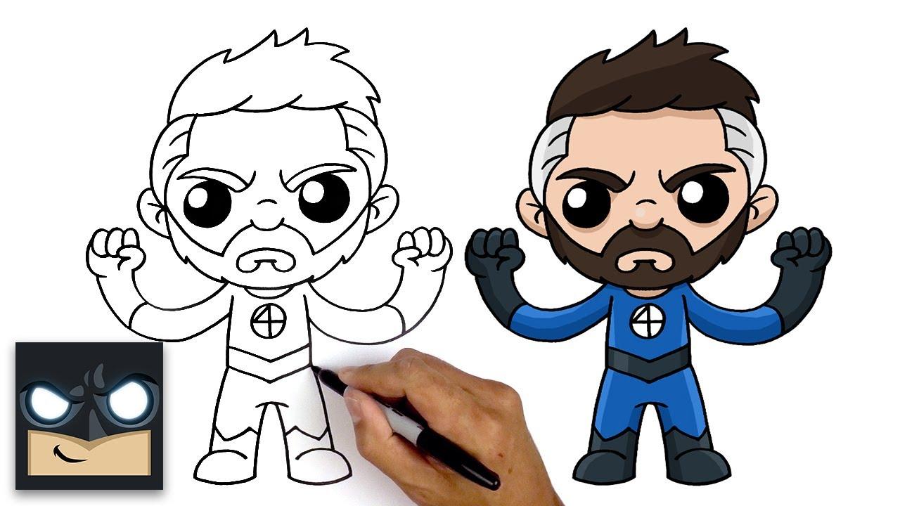 Come disegnare Mister Fantastic dei Fantastici Quattro