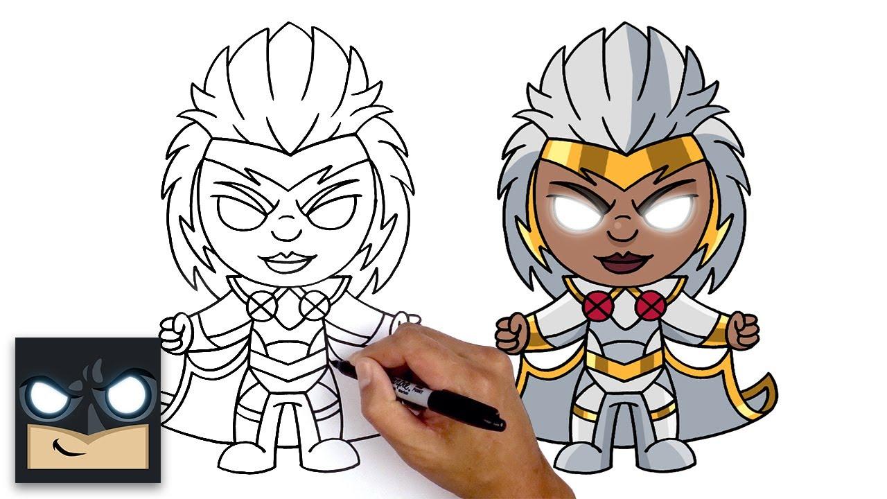 Come disegnare Tempesta (Storm) degli X-men per Fortnite Marvel Heroes