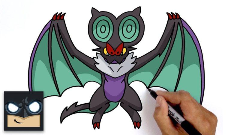 Come disegnare Noivern dei Pokemon