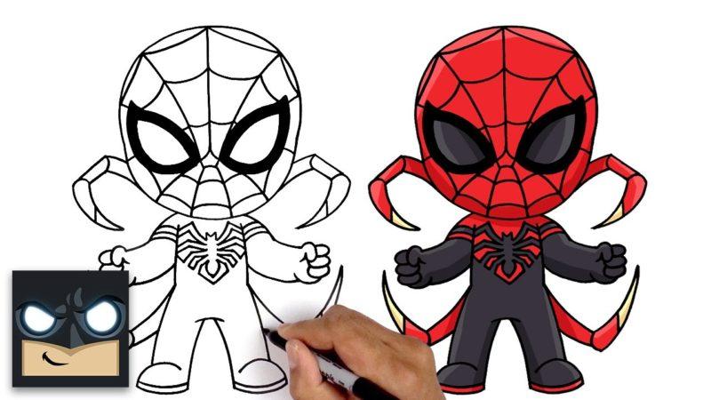 如何画蜘蛛侠卡通俱乐部