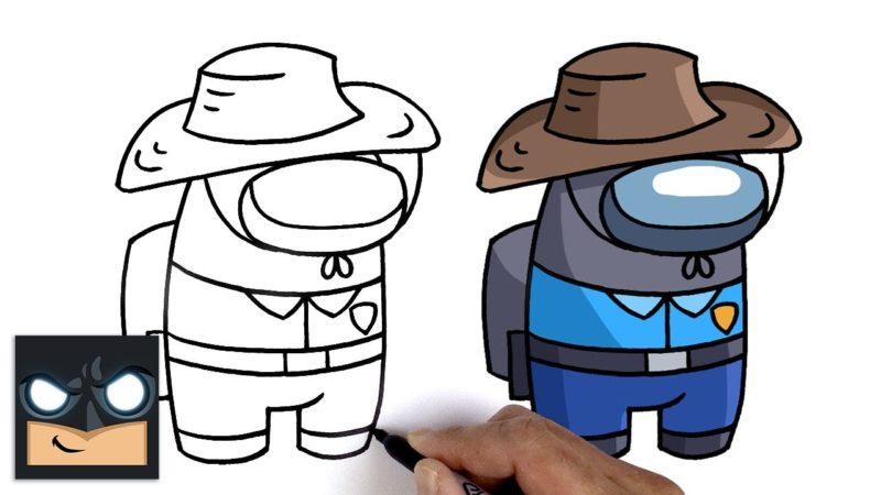 Jak narysować towarzysza Mr Beast | Pośród nas