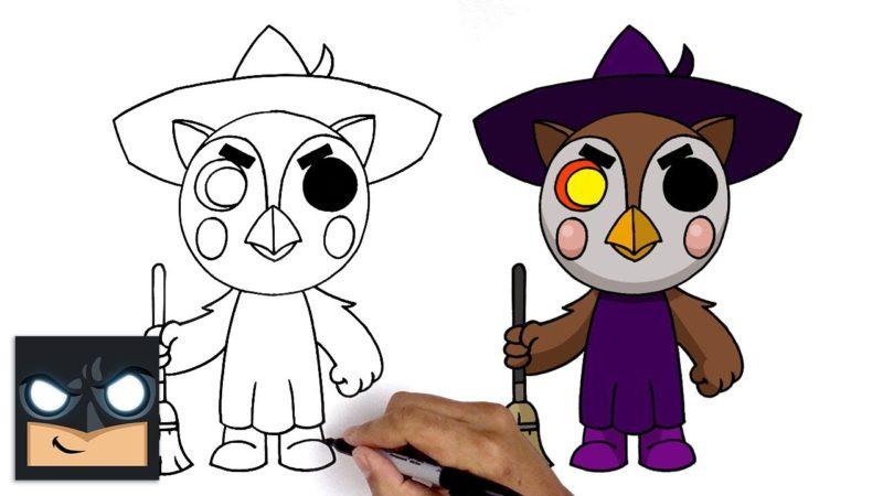 Come disegnare Owell | Roblox Piggy