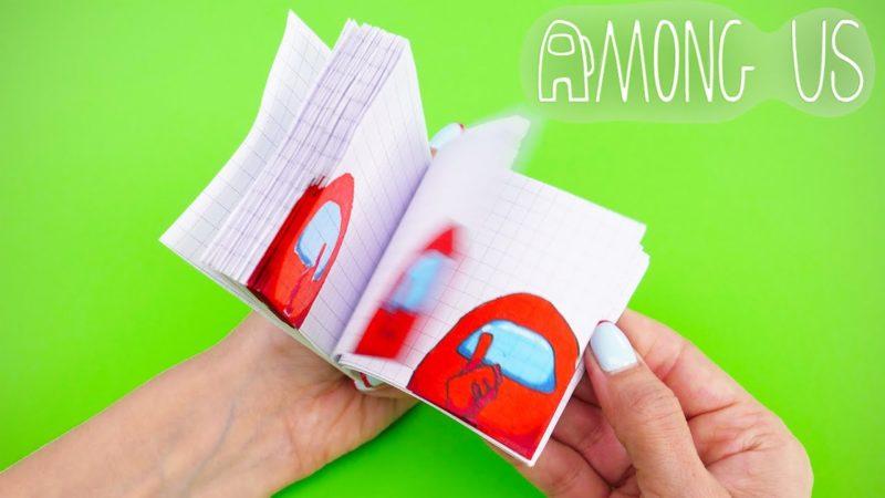 Costruisci un flipbook animato di Among Us e altri giochi fai da te