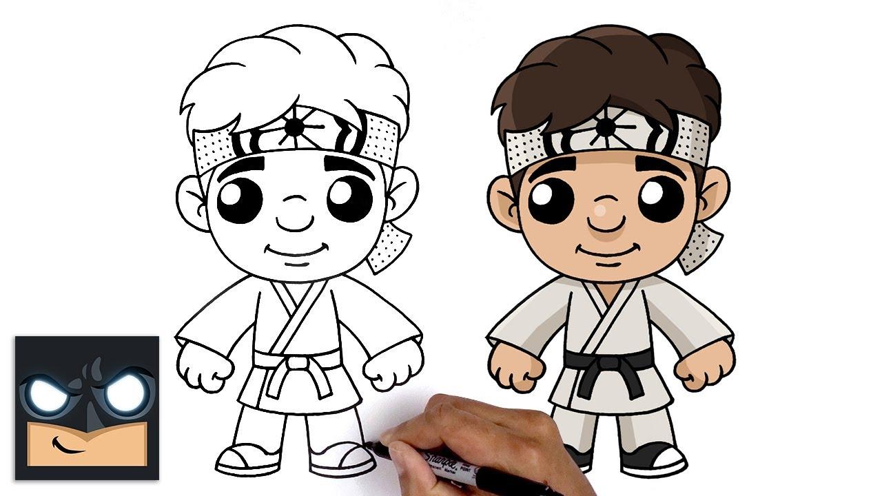 Come disegnare Daniel LaRusso di Karate Kid