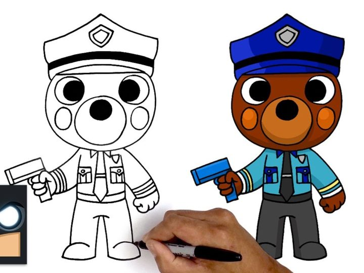 Roblox Piggy에서 Officer Doggy를 그리는 방법