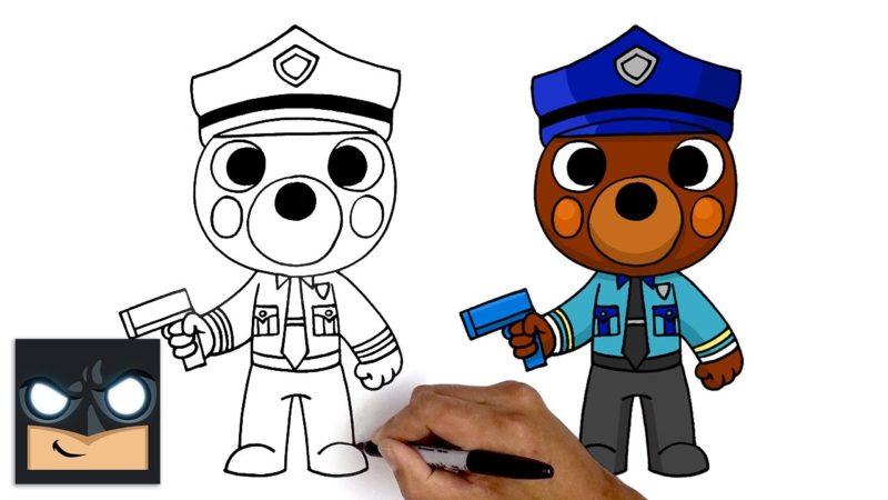 Come disegnare Officer Doggy di Roblox Piggy