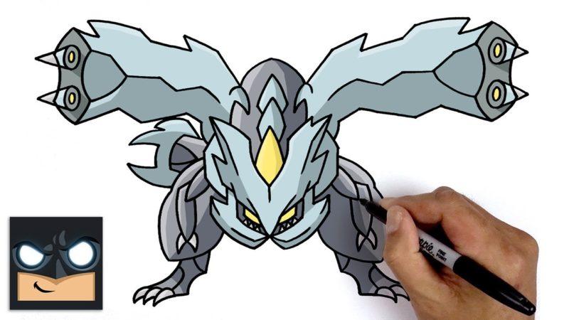 Jak narysować Kyurem z Pokemona