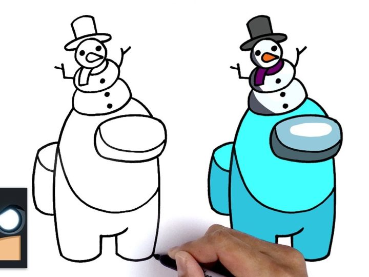 How to draw Snowman Crewmate from Among Us