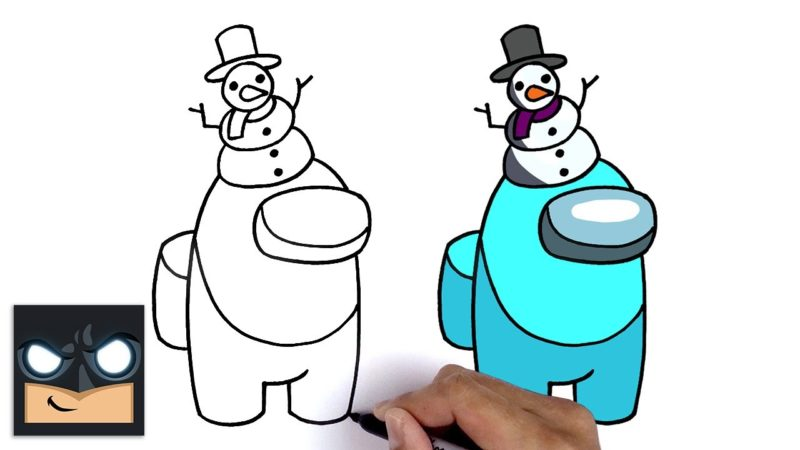 Come disegnare Snowman Crewmate di Among Us