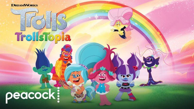 "Peacock adelanta la nueva serie ""TrollsTopia"" - Tráiler"