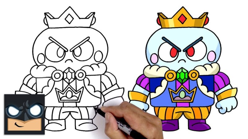 Hur man ritar King Lou från Brawl Stars
