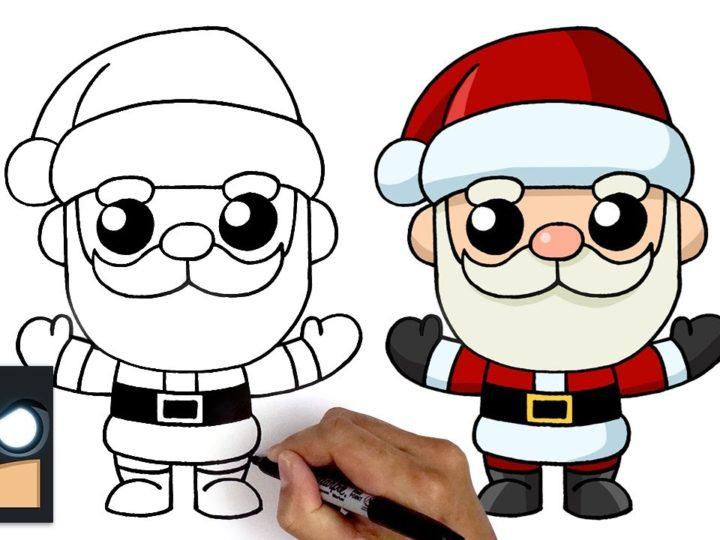 Cum să desenezi Moș Crăciun în stil kanwaii