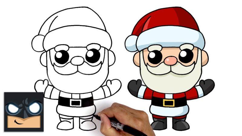 サンタクロースをカンワイスタイルで描く方法