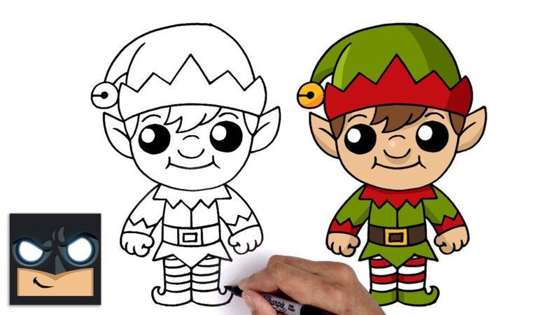 Come disegnare un elfo di Natale | Cartooning Club