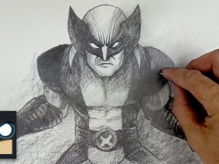 Cómo dibujar a Wolverine con lápiz