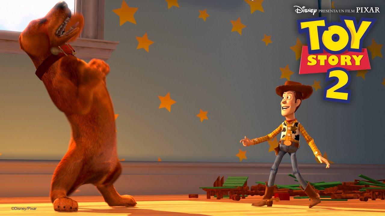 "Il video di Toy Story 2 ""Woody e Buster giocano a nascondino"""
