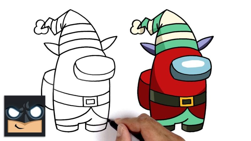 Jak narysować członka drużyny elfa z pośród nas