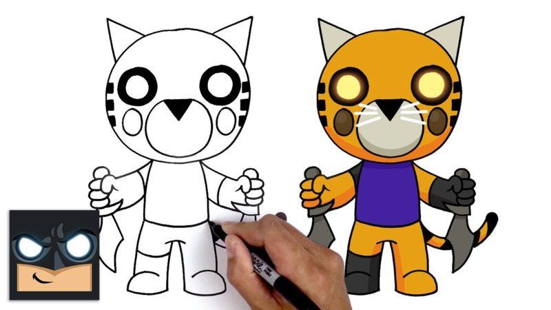 Come disegnare Tigry di Roblox Piggy