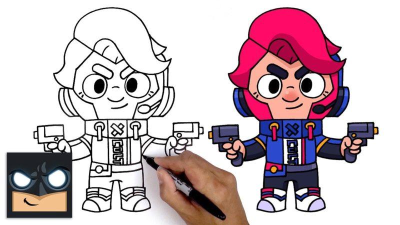 乱闘スターからチャレンジャーコルトを描く方法
