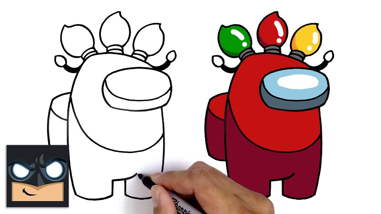 Come disegnare un compagno di squadra di Natale di Among us