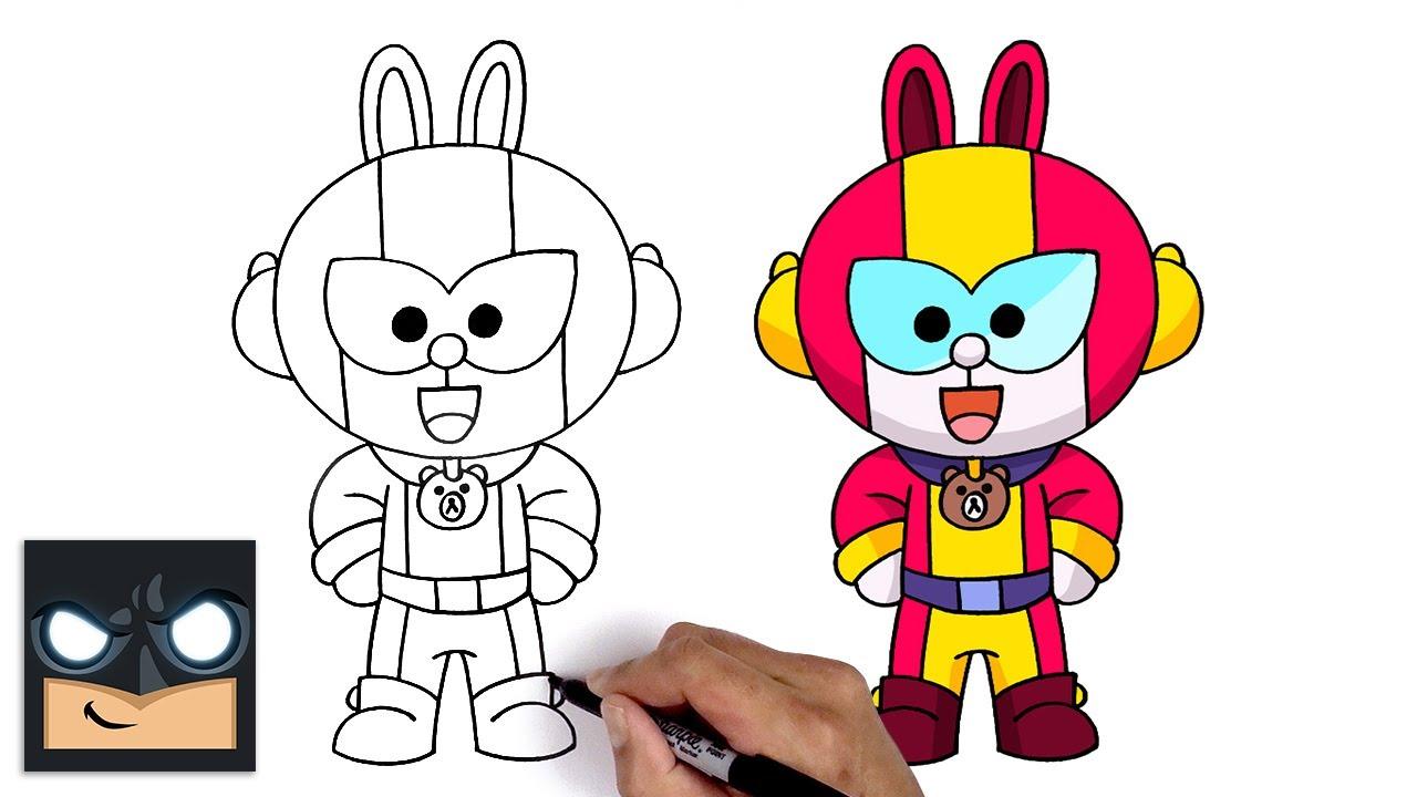 Come disegnare Cony Max   Brawl Stars