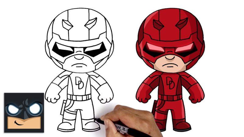 Come disegnare Daredevil della Marvel