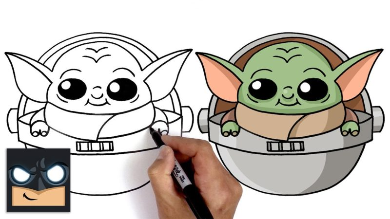 Come disegnare Baby Yoda per Fortnite