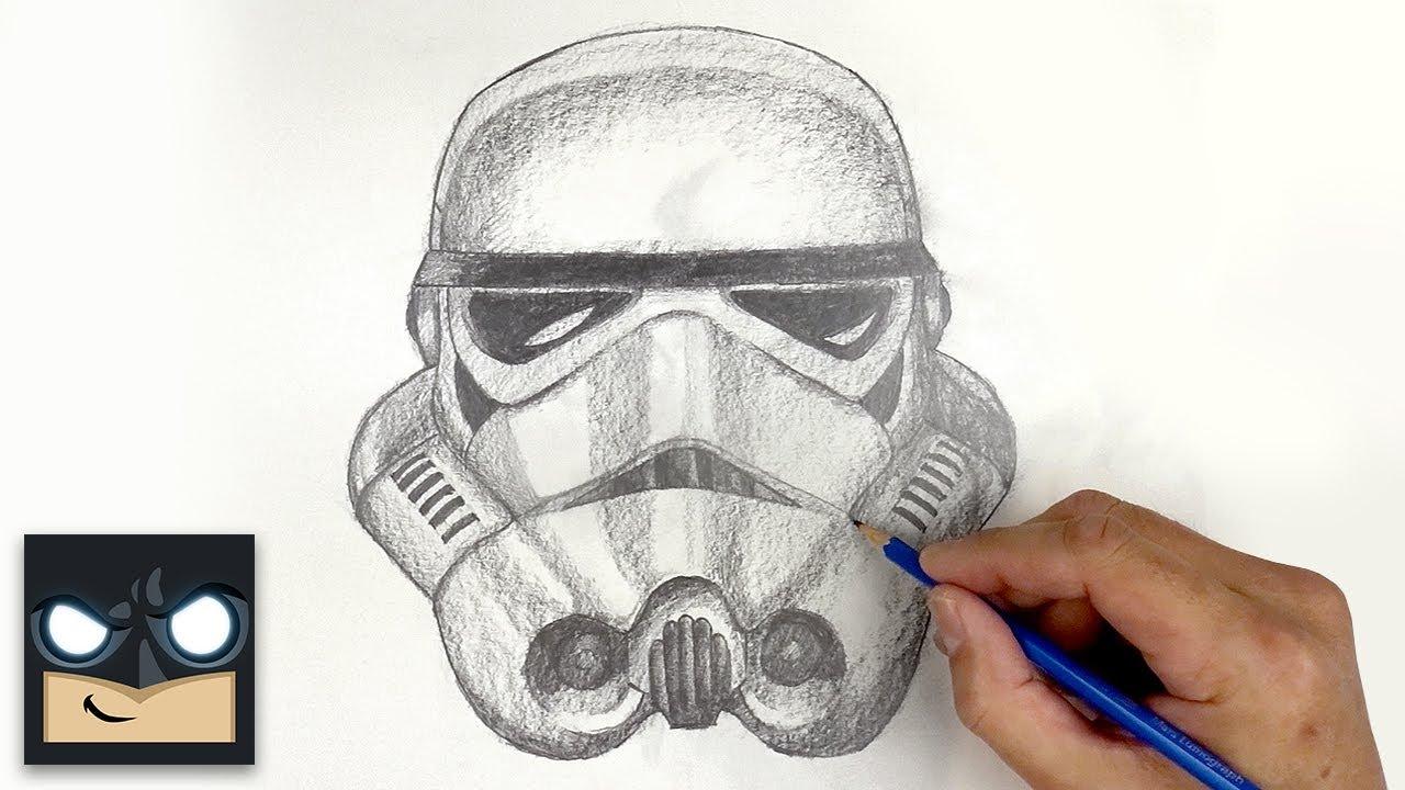 Come disegnare Stormtrooper di Star Wars con la matita