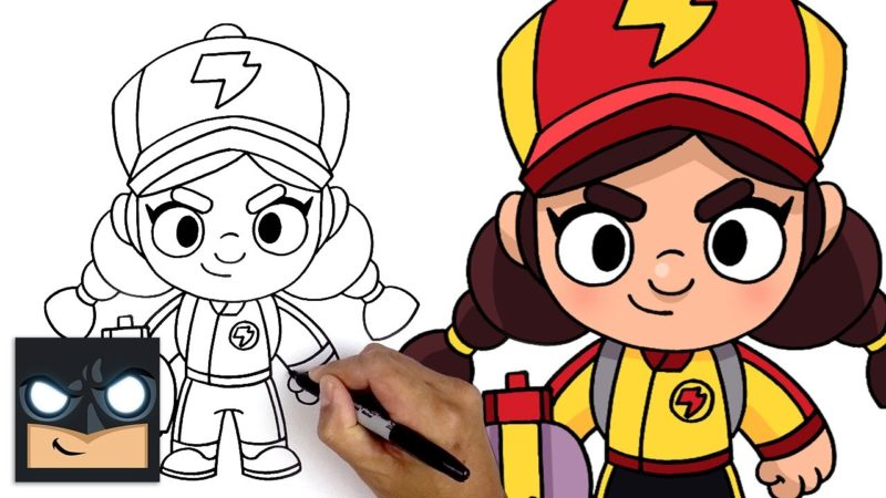 Come disegnare Red Dragon Jessie di Brawl Stars