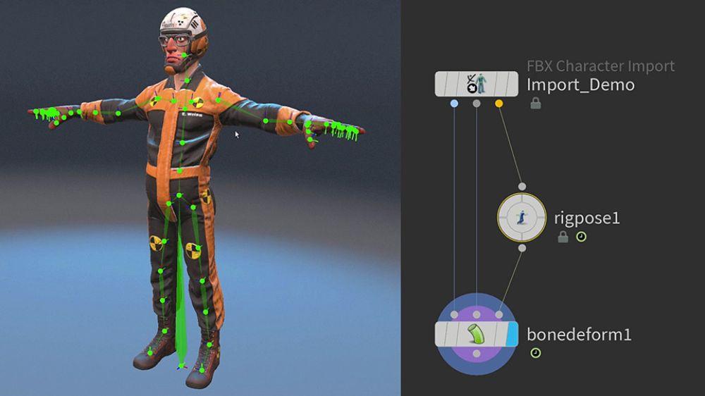 Rigging nel software KineFX di Houdini di SideFX