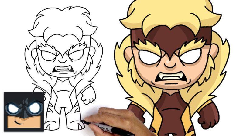 Como desenhar Dentes de Sabre dos X-Men