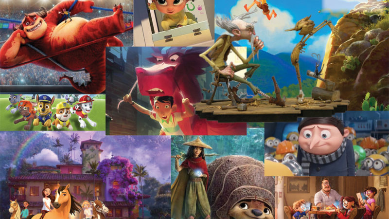 La lista dei nuovi film di animazione del 2021