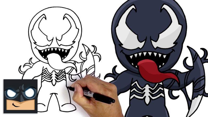 Como desenhar o Veneno Mítico da Marvel para Fortnite