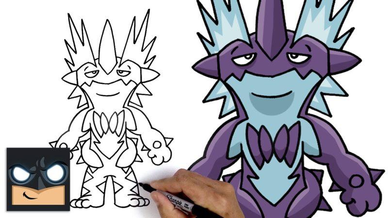 Come disegnare Toxtricity dei Pokemon