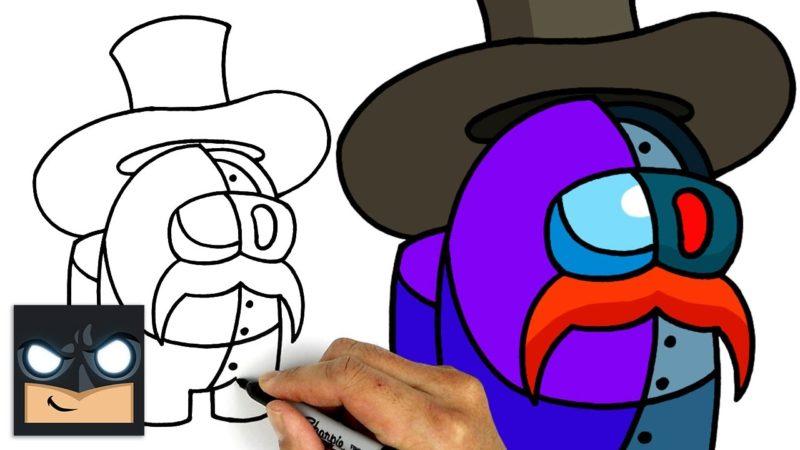 Come disegnare il braccio destro di Among us