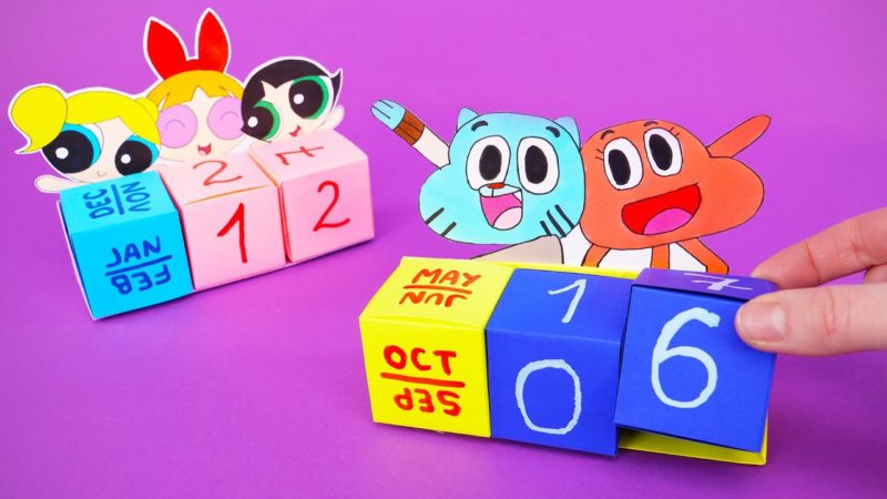 折り紙で卓上カレンダーを作る方法