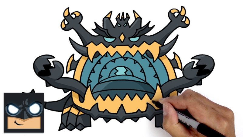 Comment dessiner Guzzlord of Pokemon