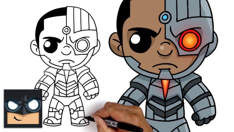 Come disegnare Cyborg della Justice League