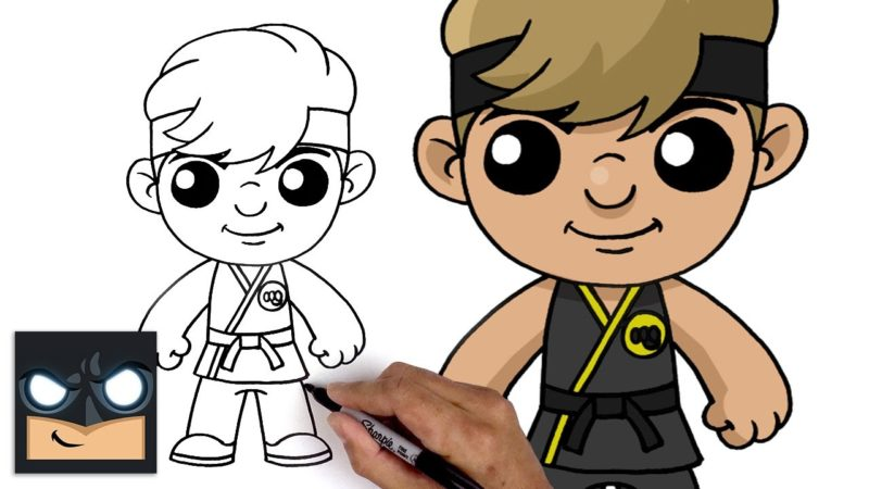 Cómo dibujar a Johnny Lawrence de Karate Kid