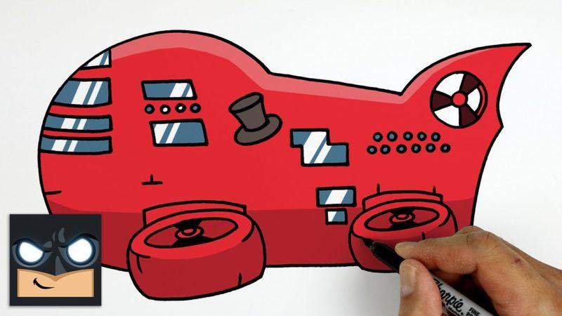 Jak narysować sterowiec Toppat z pośród nas