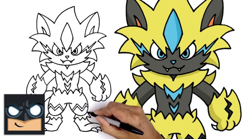 Jak narysować Zeraorę Pokemona