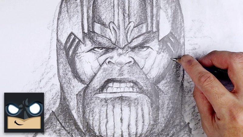 Kuinka piirtää Thanos Luonnos lauantai