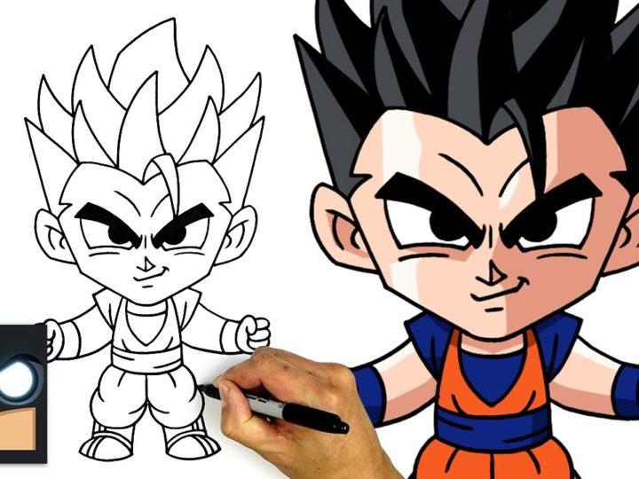 Come disegnare Mystic Gohan di Dragon Ball Z