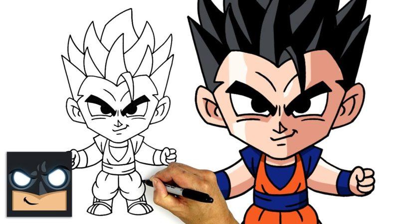 Como desenhar Mystic Gohan de Dragon Ball Z