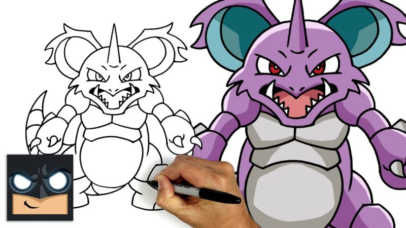 Come disegnare Nidoking dei Pokemon