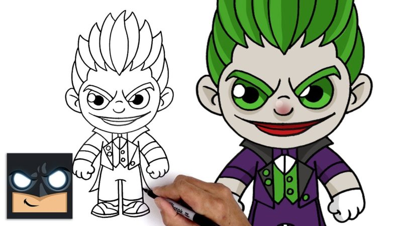 Como desenhar o Joker, o inimigo do Batman no estilo chibi