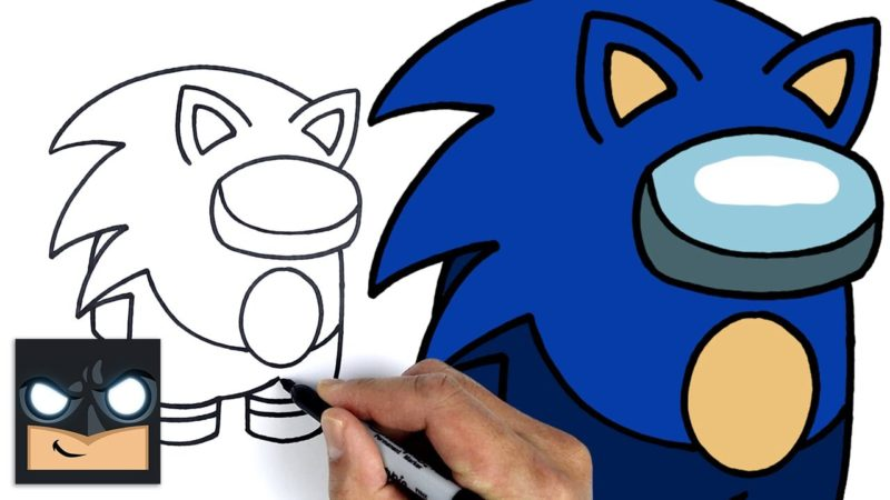 Come disegnare Sonic Crewmate di Among us